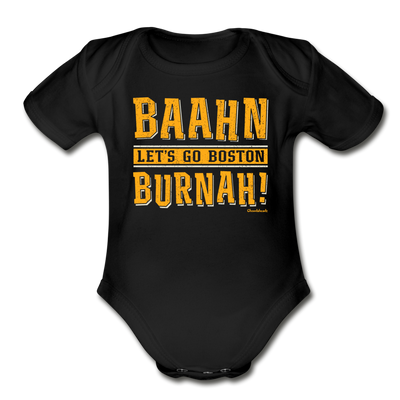 Baahn Lets go Boston Burnah! Infant One Piece - black