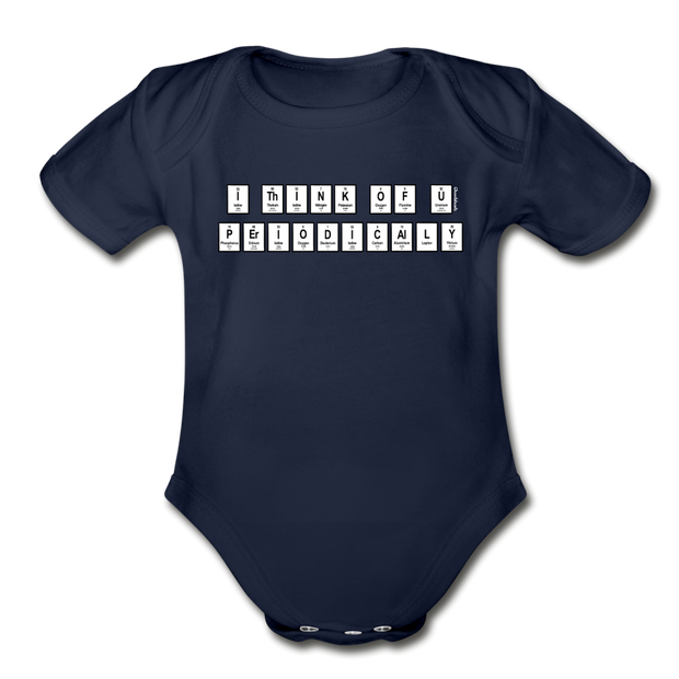I Think Of You Periodically Infant One Piece - dark navy