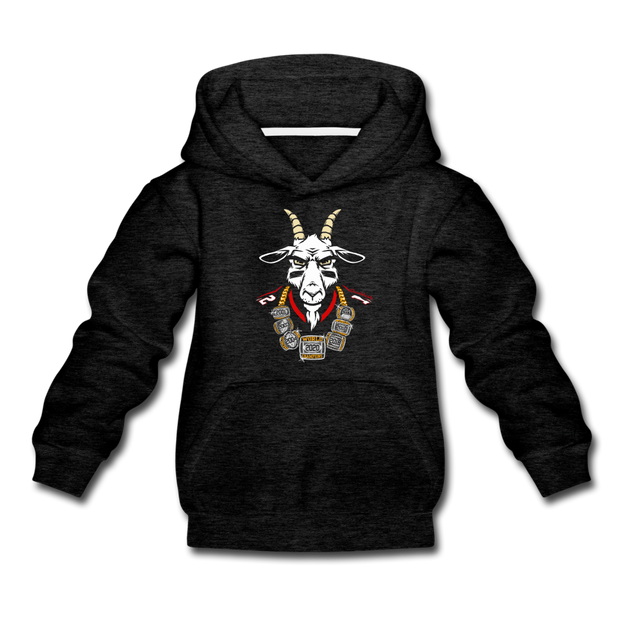 The GOAT 7 Ring Bling Youth Sweatshirt - charcoal gray