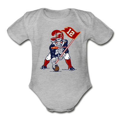 The GOAT Three Point Stance Infant One Piece - heather gray