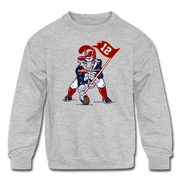 The GOAT Three Point Stance Youth Sweatshirt - heather gray
