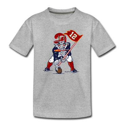 The GOAT Three Point Stance Youth T-Shirt - heather gray