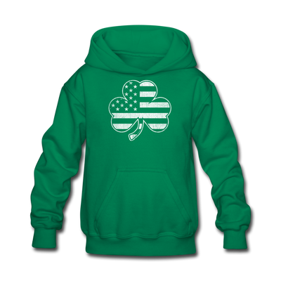 Shamrock Stars & Stripes Youth Sweatshirt - kelly green