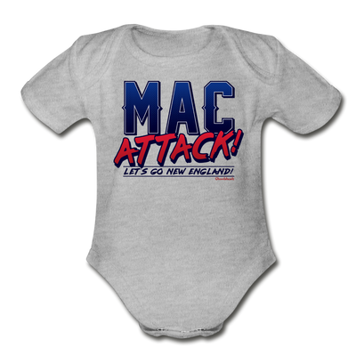 Mac Attack Infant One Piece - heather gray