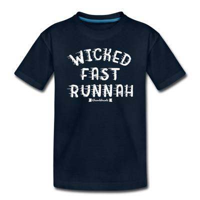 Wicked Fast Runnah Youth T-Shirt - deep navy