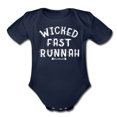 wicked fast runnah Infant One Piece - dark navy