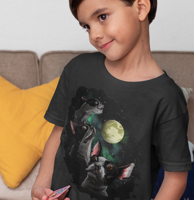 Three Terriers and Moon Youth T-shirt