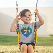 617 Heart Toddler T-Shirt