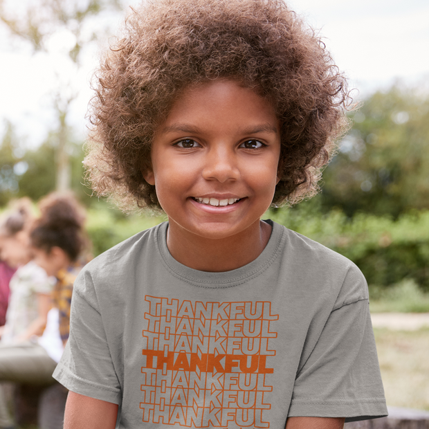 Thankful Repeat Thanksgiving Youth T-Shirt