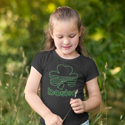Boston Shamrock Neon Sign Youth T-shirt