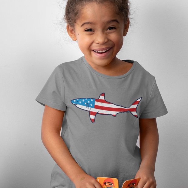 Stars and Stripes Shark Youth T-Shirt