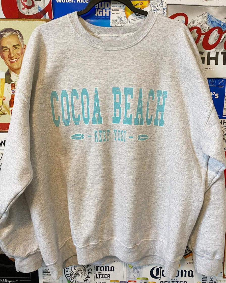 Cocoa Beach Sweatshirt - College Grey