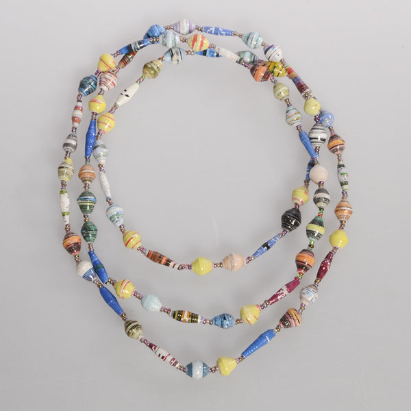 "Multicolor Single Strand 30"" Necklace"