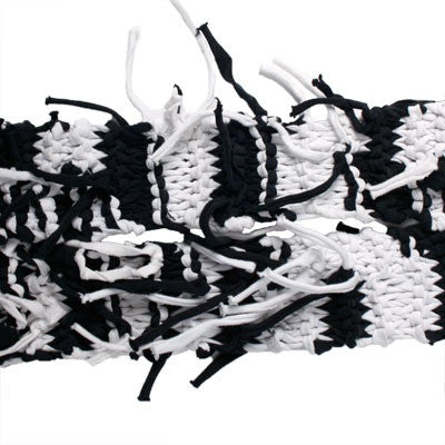 Uganda Knitted Scarf Black / White