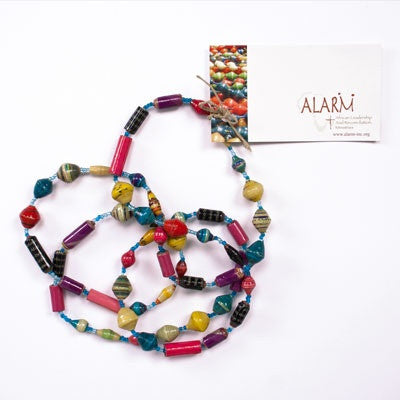 Multicolor Extra Long Single Strand Necklace