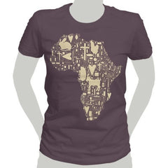 Brown Africa Womens T-Shirt