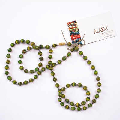 Green Short Multi-Strand Necklace