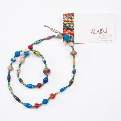 "Multicolor Short Single Strand 11"" Necklace"