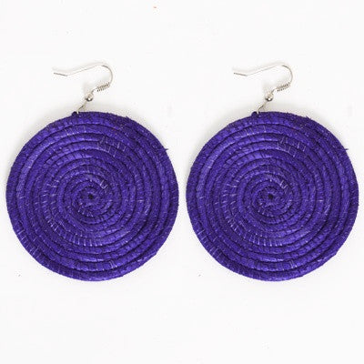 Kenya Sisal Purple Earrings