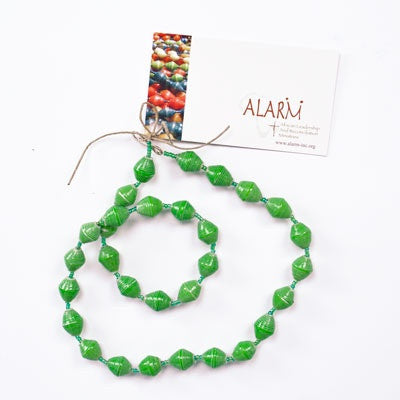 Light Green Short Single Strand Necklace