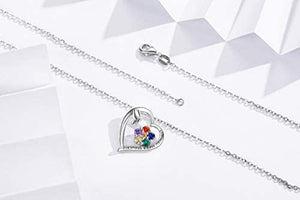(F051)Eusense Sterling Silver Butterfly Necklace Good Luck Heart Pendant, Special Jewelry for Women, Mother's Day Gifts for Mom, Wife, Girlfriend, Aunt, Grandma.