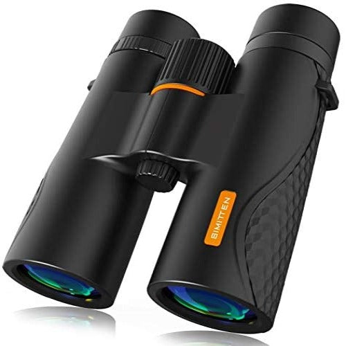 (S465)Simitten 12X42 Binoculars Large 20 mm Eyepiece,Clearly Vision with Smart Phone,Photogragh Holder,Durable,Binoculars Suit