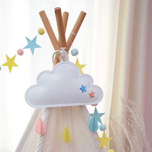 (M240)Cloud Kids Room Decor for Bedroom Aesthetic, Cute Wall Hanging Decorations for Bedroom, Playroom, Baby Room, Nursery...