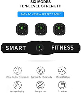 (Q615)Abs Stimulator,Muscle Toner - Abs Stimulating Belt- Abdominal Toner-Training Device for Muscles- Wireless Portable to-Go Gym Device- Muscle Sculpting at Home