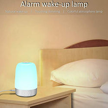 Load image into Gallery viewer, (J063)SOOTOP Alarm Clock Wake up Light, Sunrise Simulation 5 Nature Sounds & 7 Wake-up Modes 7 Different Colors and 3 Levels Warm Light Touch Control