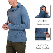 Load image into Gallery viewer, (H2313)Litthing Men's Face Mask Sunscreen Quick-Drying Hoodie Thumb Hole Outdoor Long Sleeve Fitness Fishing Suit