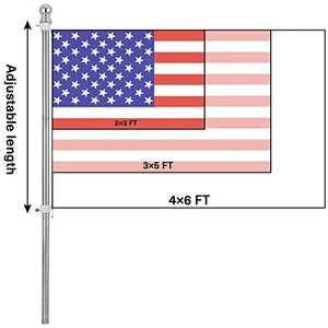 (T447)TALITARE Flag Pole with Bracket,5FT Flagpole Kit American Flag with Pole Holder Mounting Bracket Stainless Steel Heavy Duty