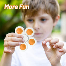 Load image into Gallery viewer, (J170)7 Pack Push Pop Pop Bubble Fidget Spinner, Simple Dimple Fidget Toy, Anxiety Relief Toys, Bubble Popping Sensory Toy, Stress Toys for Kids Adults