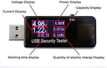 Load image into Gallery viewer, (W982)USB Digital Power Meter Tester,Tiancai Safety Tester Multimeter Current and Voltage Monitor, DC 5.1A 30V Amp Voltage Power Meter
