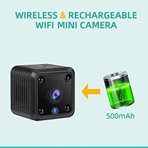 (A476)TeamMe Mini Spy Camera, WiFi Wireless Hidden Camera, HM206 1080P HD Small Home Security Camera with 32G SD Card, Night Vision, Motion Detection