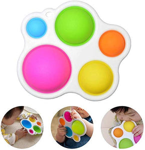 (X691)Simple Dimple Fidget Toy - Sensory Toys, Silicone Flipping Board Fidget Toys - Early Educational Toy, Hand Grasping Toy...
