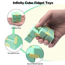 Load image into Gallery viewer, (H0123)heruo Infinity Cube Fidget Cube Toy Stress Relief for Adults and Kids - 4 Pieces Magic Puzzle Flip Cube for ADD, ADHD, Anxiety Relief and Killing Time