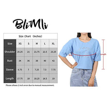 Load image into Gallery viewer, (X118)BliMli Women's Casual Short Sleeve Hot Drilling Crop Top Loose T-Shirt