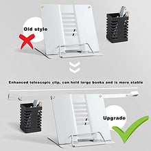 Load image into Gallery viewer, (K161)Cookbook Stand, Desk Book Holder Metal Reading Rest Book Holder Adjustable Documents Holder Portable Sturdy Bookstands for Recipes Textbooks ...