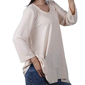 (X116)BliMli Women's Wrewneck Long Sleeve Shirt - Fitting Blouses Casual Pullover Sweatshirts Thin Tunic Tops