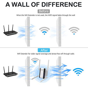 (H362)iMitlink WiFi Range Extender, 1200Mbps Super Booster WiFi Repeater, Dual Band Signal Booster for Home Wireless with Ethernet Port, up to 1200 sq.ft 20 ...