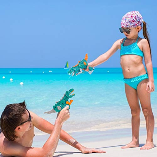 (J018)WELLVO Water Gun, 2 Pack Water Guns for Kids, Dinosaur Party Favors for Boys Girls Summer Holiday Swimming Pool Beach Park Play Toys