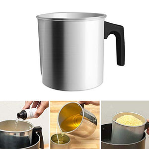 (J062)Candle Making Pouring Pot, Pouring Pitcher 1.2L Melting Pot, Heat-Resisting Handle DIY Candle Wax Jug, Aluminum Candle Wax Melting Pot, Candle Wax