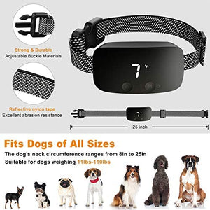 (K251)NBJU Bark Collar for Dogs,Rechargeable Anti Barking Training Collar with 7 Adjustable Sensitivity and Intensity Beep Vibration