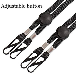 (X028)5 Pack Adjustable Length Face Mask Lanyard, Handy & Convenient Safety Mask Holder Hanger Rest for Kids Women Men Senior Adults Comfortable Around The Neck Facemask