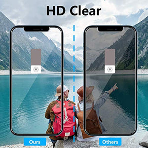 (X454)4-Pack Privacy Screen Protector with Camera Lens Protector for iPhone 12 Pro[6.1''] HoiLong 9H Diamonds Anti-Spy Tempered Glass Film...