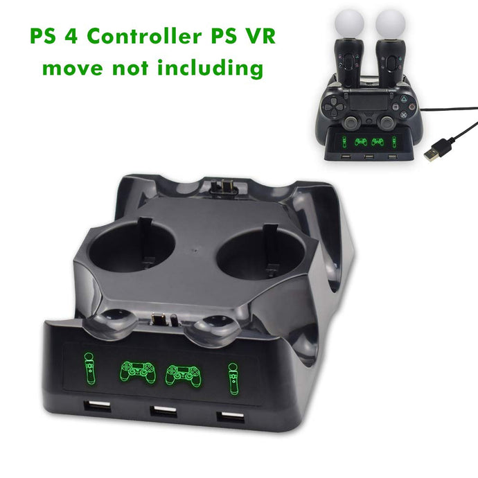 (W294)PS 4 / PS VR Docking Station, Kerou Dual Docking Station PlayStation 4 / PS 4 / PS VR Move Controller for Sony PlayStation4 / PS4 Pro / PS VR / PS4 VR