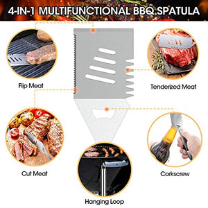 (J501)iToncs 2021 Grilling Accessories BBQ Tools Set, 29 PCS Stainless Steel Grill Kit with Case, Great Barbecue Utensil Tool for Men, Dad