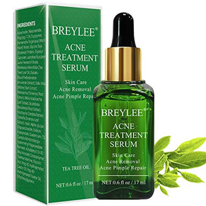 (M342)Acne Treatment Serum, BREYLEE Tea Tree Clear Skin Serum for Clearing Severe Acne, Breakout, Remover Pimple and Repair Skin (17ml,0.6oz)