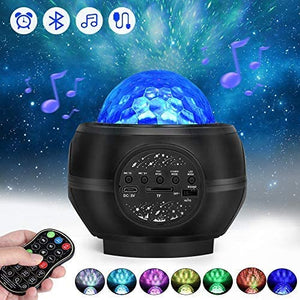 (R245)Star Projector RegeMoudal Night Light Projector with LED Nebula Cloud, Galaxy Starry Projector Light Build-in Bluetooth Stereo Music Speaker