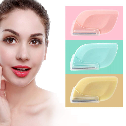 (T505)Eyebrow Razor For Women Dermaplaning Tool Facial Razor For Women Face Peach Fuzz Facial Hair Fuzz On Face Upper Lip Eyebrow Trimmer Shaper Shaver Safty And Portable